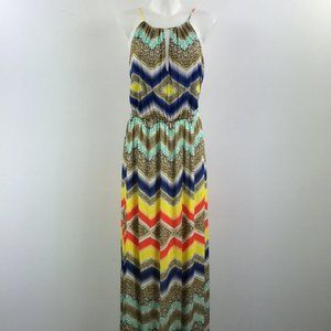 Milly Multi-Color Maxi Dress Size Medium